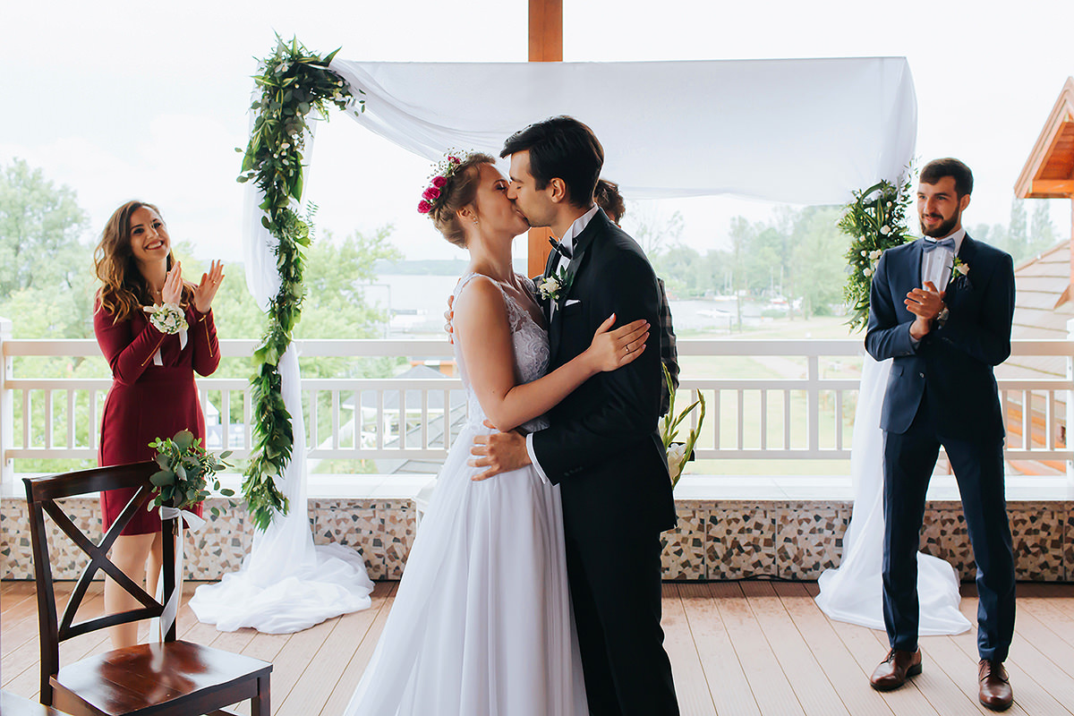 Ślub protestancki pod Warszawą nad Zegrzem